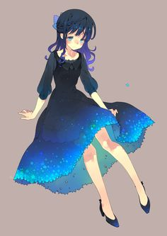 Anime / Manga Deep Blue Dress