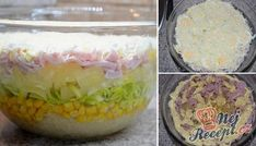 Celery Salad, Pasta, Mayonnaise, Pina Colada, Pineapple, Oatmeal, Tacos, Food And Drink, Layers