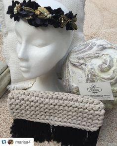 #repost @marisa4 #tribecahandmade #clutch #knitting #headpiece #design #tocados #handmade #unique #novia #corona #style #tocadospersonalizados #complementos #flowers #tribecahandbags #london #madrid #hechoamano #shop