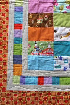 Like the border for an I Spy quilt