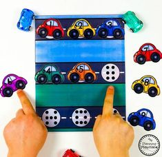 Car Count and Match Activity for Preschool Cars Preschool, Preschool Charts, Transportation Theme Preschool, Numbers Preschool, Preschool Books, Preschool Worksheets, Eyfs Activities, Preschool Learning Activities, Preschool Curriculum