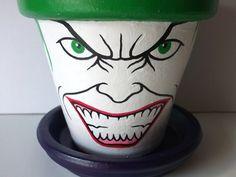 Joker+Painted+Flower+Pot+Gift+Set+Batman+Dark+Knight+by+GingerPots,+$20.00