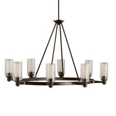 8 light Chandelier in Olde Bronze - Circolo Collection