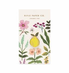 Rifle Paper Co's glossy Lemon enamel pin is a little sour and a lot of sweet. The rubber clutch backing keeps it safely attached to your favorite jacket, backpack, or tee. Each pin is packaged with an illustrated backer to set the scene. Anna Bond, Korean Stationery, Cute Stationery, Stationary, Odette Et Lulu, Pin Card, Rifle Paper Co, Hard Enamel Pin, Pin And Patches