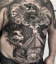 Aztec Tattoo by London Reese