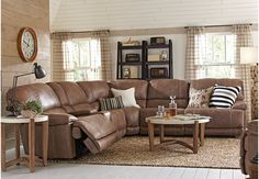 Stetson Ridge Brown 6 Pc Power Reclining Sectional  - Living Room Sets (Brown)