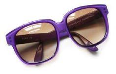 Gorgeous Vintage 1980s Emmanuelle Khanh Paris Purple Sunglasses
