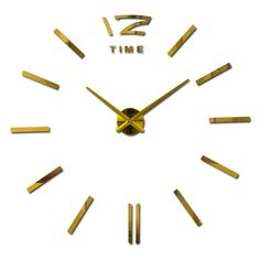 2016 nuovo arrivo 3d home decor quarzo orologio da parete orologi fai da te horloge soggiorno orologio di metallo specchio Acrilico 20 pollice spedizione gratuita