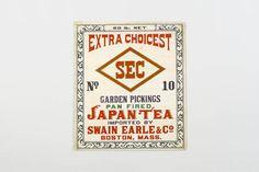 茶箱レッテル(輸出用)