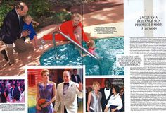Prince Albert, Princess Charlene, Prince Jacques and Princess Gabriella on French magazine Gala