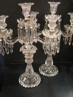 Chandeliers, Chandelier Lamp, Candlestick Holders, Candlesticks, French Country Furniture, Baccarat Crystal, Imperial Glass, Lamp Light, Glass Art