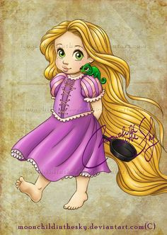 Child Rapunzel by MoonchildinTheSky.deviantart.com on @deviantART