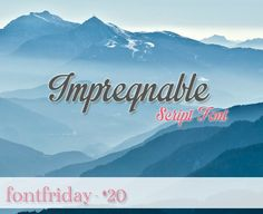 Free Font Friday - Impregnable | Oh Everything Handmade