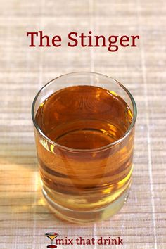 The Stinger cocktail dates back to the early 1 jigger brandy ounce white creme de menthe, it sounds very old-fashioned and high society. But it's perfect for after dinner sipping on a chilly autumn evening. Brandy Cocktails, Easy Cocktails, Classic Cocktails, Craft Cocktails, Cocktail Recipes, Drink Recipes, Dessert Recipes, Fall Drinks, Cocktails