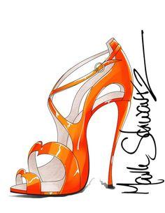 Mark Schwartz shoe sketch