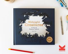 Crack open Midnight Creatures with your favorite kiddo beside you, and begin your quest for a shadowy world of hidden animals. Talented paper artist Helen Friel