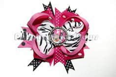 Minnie Mouse Bottle Cap hair bow - Free shipping USA