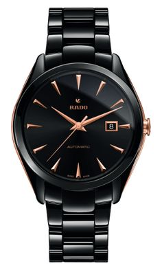 With a matte finish and gleaming stick indexes, this stunningly simple watch will make you relish the passage of time. Style Name:Rado Hyperchrome Ceramic Bracelet Watch, Style Number: Available in stores. Simple Watches, Cool Watches, Watches For Men, Ladies Watches, Swiss Watch Brands, Skeleton Watches, Brighton Jewelry, Automatic Watch, Pandora Jewelry
