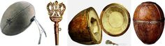 "Egg ""Birch"" is made by jeweler Carl Faberge firm in 1917."