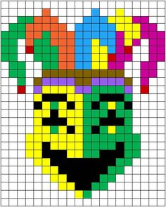 The teacher Jessica proposes two beautiful pixel art activities dedicated to the Carnival: the boards of the masks of comedy and Greek tragedy. It is a rivisitaz . Minecraft Pattern, Minecraft Pixel Art, Cross Stitch Fairy, Small Cross Stitch, Perler Patterns, Quilt Patterns, Animated Emojis, Graph Paper Drawings, Graph Design