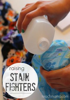 I NEVER knew how into stain fighting kids could be!     They actually wanted to do laundry.  And I actually danced.