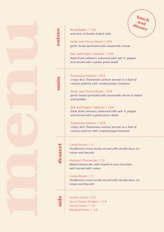 Customizable Restaurant Menu Templates – Easil – Easil I like this a lot, STALK could go right down the side Restaurant Menu Template, Restaurant Menu Design, Restaurant Branding, Restaurant Restaurant, Cafe Menu Design, Food Menu Design, Menu Layout, Print Layout, Typography Layout