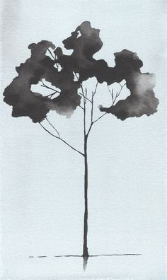Watercolor Painting Tree. Giclee Tree Print by Krislyndillard $40