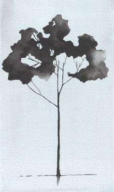 Watercolor Painting Tree. Giclee Tree Print by Krislyndillard $40