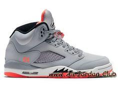 Chaussures Air Jordan 5 Retro GS ´Hot Lava´ 440892-018 Pour Acher Jordan prix Femme/Enfant Grey