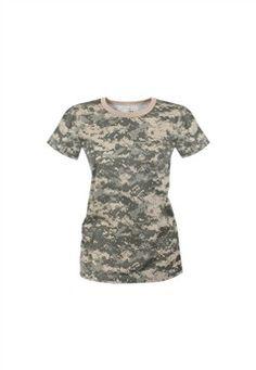 Womens Longer Camo T-Shirt ! Buy Now at gorillasurplus.com