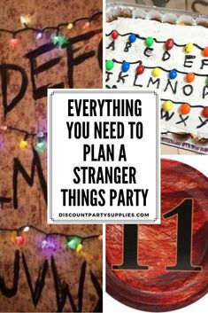 Everything you need to plan a Stranger Things party! Everything you need to plan a Stranger Things party! Star Wars Party Decorations, Minecraft Party Decorations, Stranger Things Theme, Stranger Things Season, 13th Birthday Parties, 12th Birthday, Birthday Ideas, Birthday Stuff, Birthday Bash