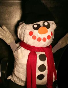 Recycled Snowman - pinned by @PediaStaff – Please Visit ht.ly/63sNtfor all our pediatric therapy pins