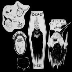 Burial Ground stickers