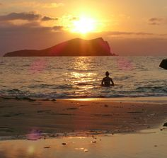 Sunset bath at Cala Conta. #Ibiza