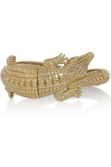 Kenneth Jay Lane alligator cuff, $90.