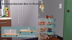 Gift: Somewhat Stackable Bins | Nanashi's Sims 2 Site