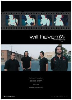 Will Haven - Carpe Diem A2 promotional poster. Client: Music For Nations. Circa 2002. © Sean Mowle.