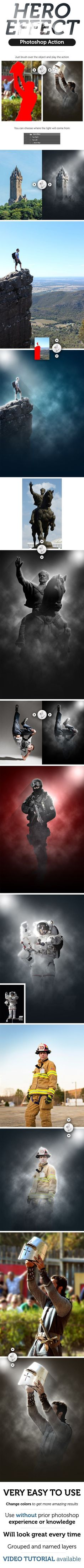 Hero Effect Photoshop Action. Download here: http://graphicriver.net/item/hero-effect-photoshop-action/16515807?ref=ksioks