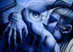 Psicomemorie GB01 - 2012 - © Daniele Del Rosso - #art #artist #painting #contemporaryart #visualarts #psicomemorie #illustration #surrealismart #surrealism #digitalart #danieledelrosso #blue