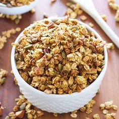 Healthy and delicious granola that tastes like your favorite pumpkin pie!