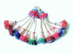 Vintage Tribal Tassels from Afghanistan-11-Pair.  via Etsy.