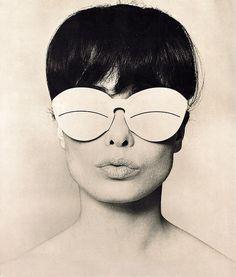 Model: Rei Kawakubo. Photo: Peter Knapp (1965).