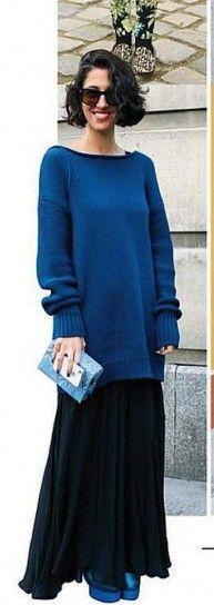 Falda y jersey extralargo