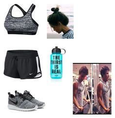 """Imagine going to the gym with Cameron Dallas"" by kelsypastor on Polyvore featuring NIKE and Victoria's Secret PINK"