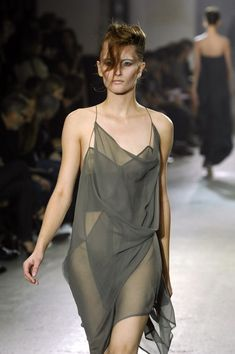 vvv Haider Ackermann Spring 2008. deconstructed. women's fashion an style.  i would wear over trousers.