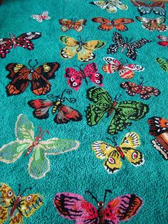 From the A to Z of Nathalie Lete A wonderful butterfly rug design in vibrant wool From Anthropologie From Nathalie's Paris home