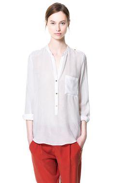 プラストロンポケットシャツ - トップス - WOMAN - ZARA 日本