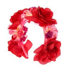 Serre-tête avec roses rouges, Coiffure de fête, Tes préférés, Fleurs, tous, Cheveux, Serre-tête, Guirlandes, Serre-tête, Voir par articles d...