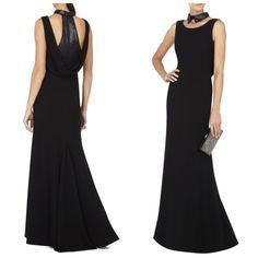 BCBG MAXAZRIA Haiden Black Sequin-Collar Sleeveless Dress Gown 12 UYS64C02 $498 #BCBGMAXAZRIA #BallGown #Cocktail