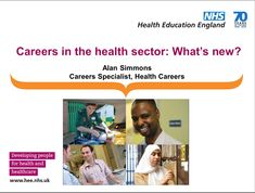 Careers in the Health Sector - What's new? via and at 2018 Career Advice, Whats New, Young People, Health Care, Presentation, Teacher, Activities, Education, Professor